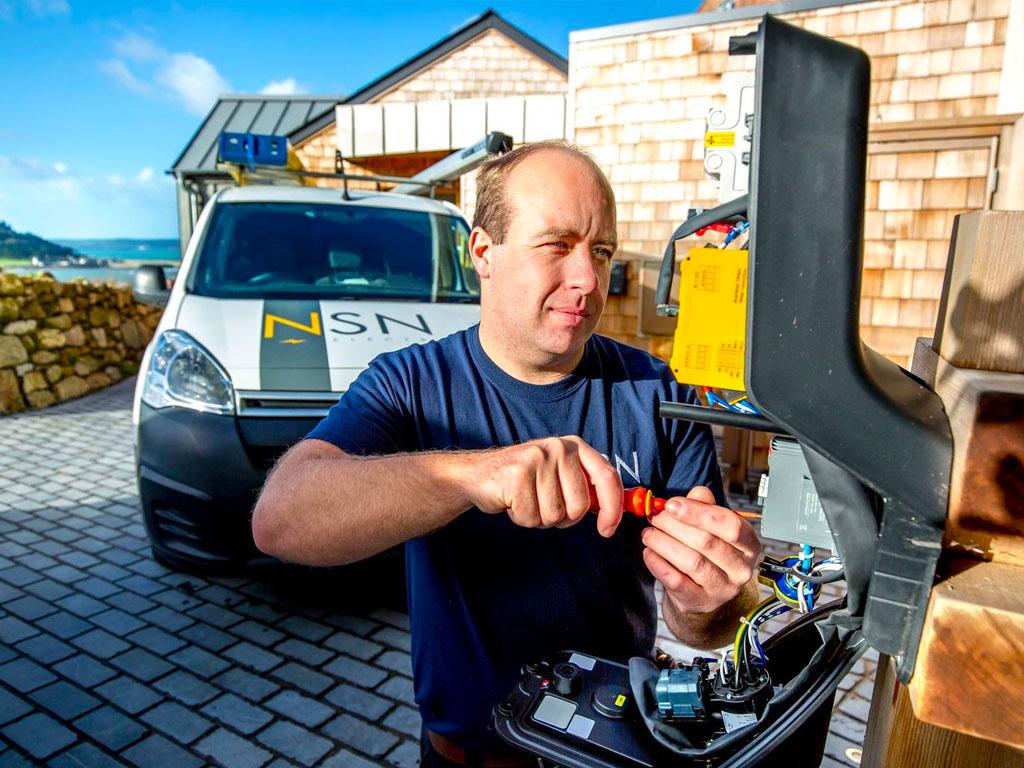 EV charging, Penzance, Cornwall